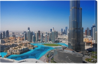 Downtown Dubai is a popular place for shopping and sightseeing Premium prints