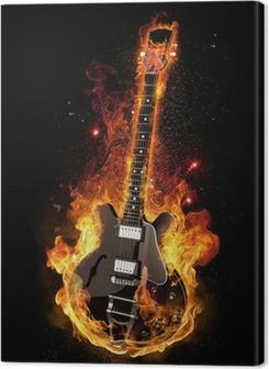 E Gitarre unter Feuer Premium prints