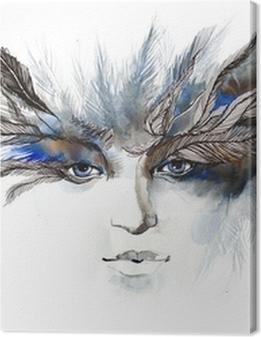 feathers around eyes (series C) Premium prints