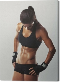 Fitness female resting after workout Premium prints