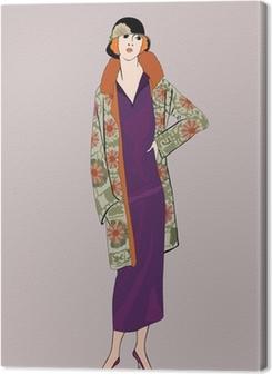 Flapper girls (20's style): Retro fashion party Premium prints
