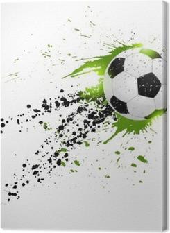 Flying soccer ball Premium prints
