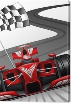 Formula 1 Red Car on Race Track Premium prints