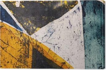 Geometry, hot batik, background texture, handmade on silk, abstract surrealism art Premium prints