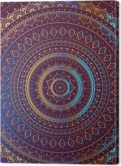 Gold Mandala. Indian decorative pattern. Premium prints