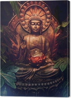 Golden buddha statue Premium prints