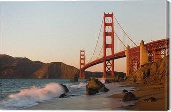 Golden Gate Bridge in San Francisco at sunset Premium prints