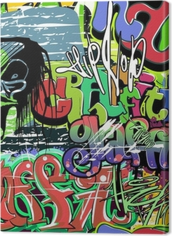 graffiti wall vector seamless background Premium prints