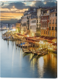 Grand Canal in Venice by night Premium prints