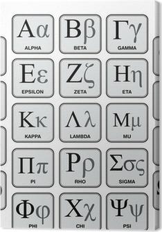 Greek Alphabet and Symbols, Hand-Made Chart Premium prints