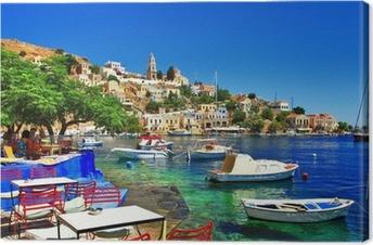 Greek holidays. Symi island Premium prints