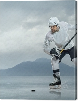 Ice hockey players on the ice Premium prints
