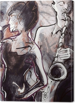 Jazz band with dancers Premium prints