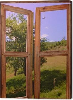 landscape seen through a window Premium prints