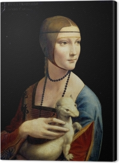 Leonardo da Vinci - Lady with an Ermine Premium prints