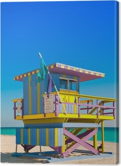 Lifeguard Tower in South Beach, Miami Beach, Florida Premium prints
