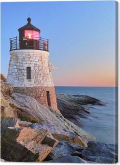 Lighthouse at sunset Premium prints