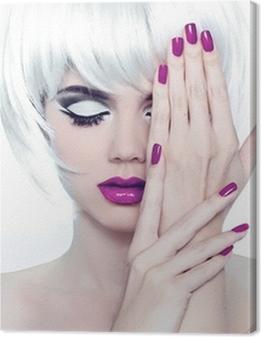 Makeup and Manicured polish nails. Fashion Style Beauty Woman Po Premium prints