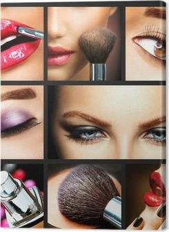 Makeup Collage. Professional Make-up Details. Makeover Premium prints