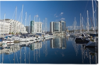 Marina Plymouth Devon England UK Premium prints