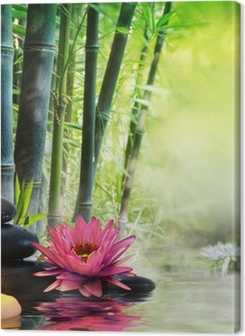 massage in nature - lily, stones, bamboo - zen concept Premium prints