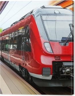 Modern high speed train Premium prints