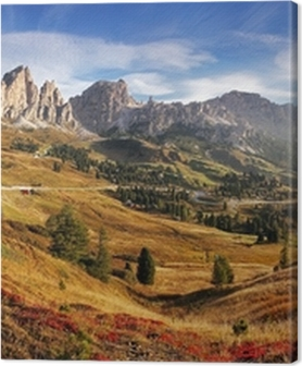 Mountain panorama in Italy Alps dolomites - Passo Gardena Premium prints