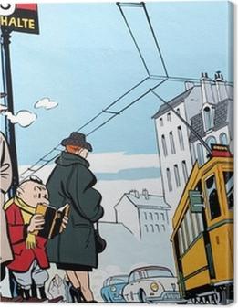 Mural painting in Brussels Premium prints