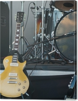 musical instruments on stage, close-up Premium prints