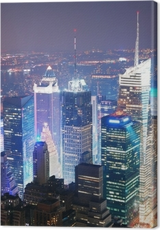 New York City Manhattan Times Square skyline aerial view Premium prints