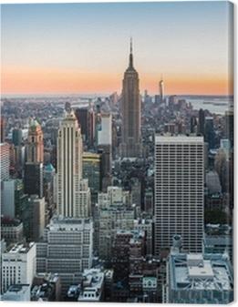 New York skyline at sunset Premium prints