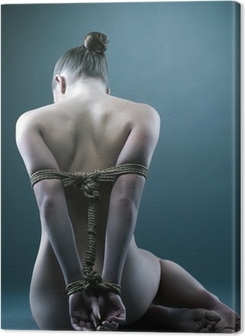 Nude woman with shibari in studio Premium prints