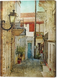 old greek streets- artistic picture Premium prints