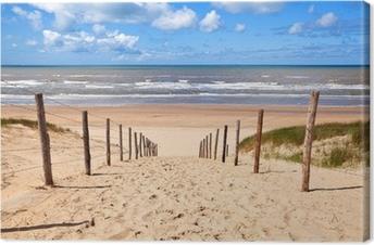 path to sandy beach by North sea Premium prints