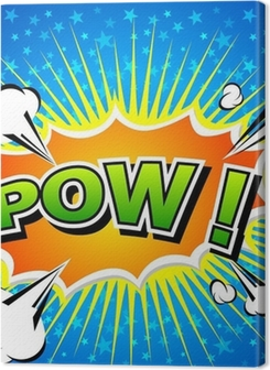 Pow! - Comic Speech Bubble, Cartoon Premium prints