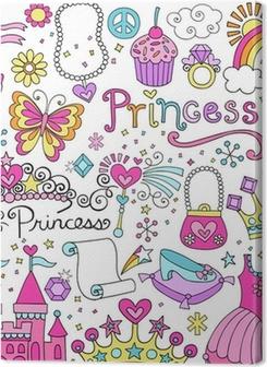 Princess Fairy tale Tiara Notebook Doodles Vector Set Premium prints
