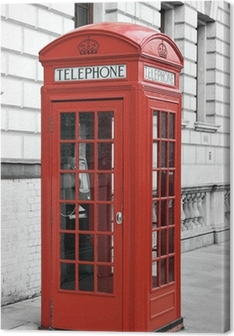 Red telephone booth in London, England Premium prints