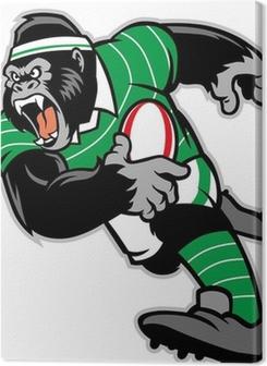 rugby gorilla mascot Premium prints