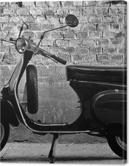 Scooter in front of a wall Premium prints