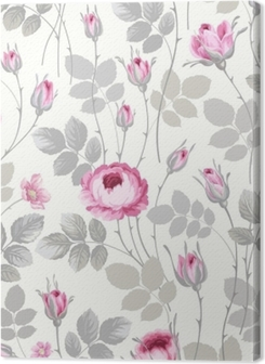 seamless floral pattern with roses in pastel colors Premium prints