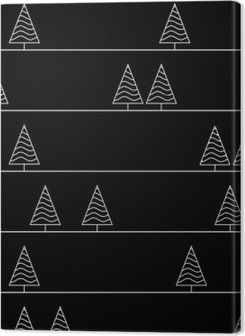 seamless pattern with fir trees isolated on background Premium prints