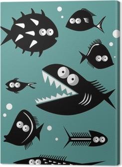 Set of funny fishes Premium prints