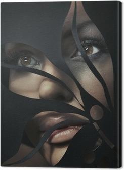 Shaped portrait of a beautiful woman Premium prints
