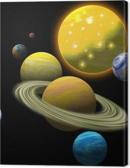 Solar system Premium prints