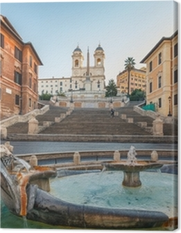 Spanish Steps at morning, Rome Premium prints