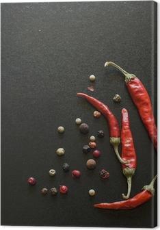 Spices on a blackboard Premium prints