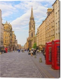 street view of Edinburgh, Scotland, UK Premium prints