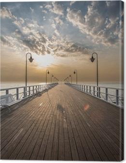 Sunrise on the pier Premium prints