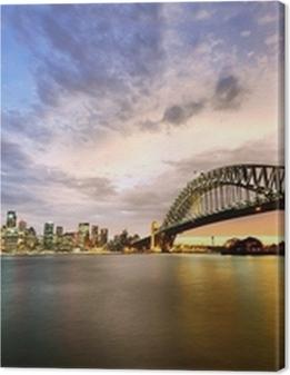 Sydney Harbor Panorama at twilight Premium prints