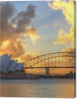 Sydney Harbour with Opera House and Bridge Premium prints